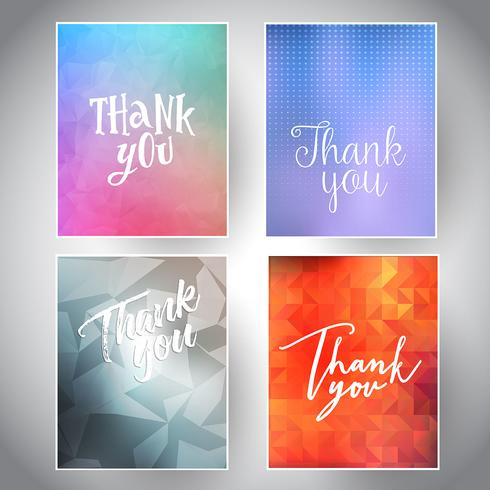 Collection of thank you cards