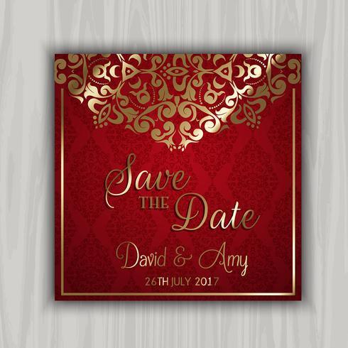 Decorative save the date design
