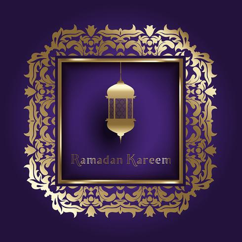 Ramadan background with decorative frame