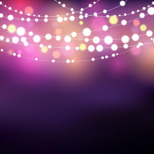 String lights background