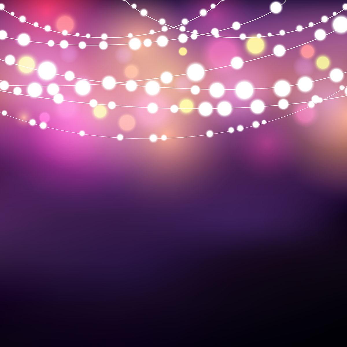 String Of Xmas Lights Clipart: String Lights Free Vector Art