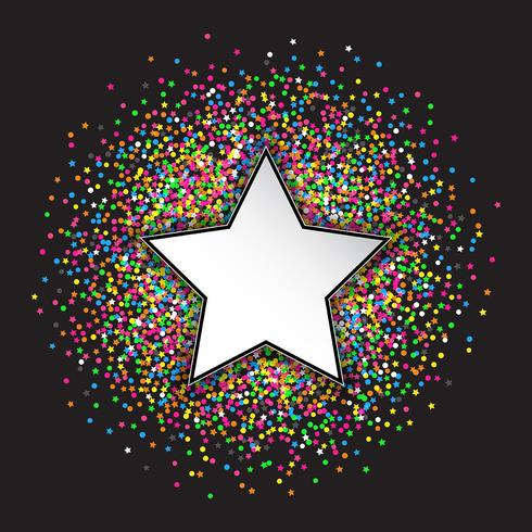 Stars and circles confetti