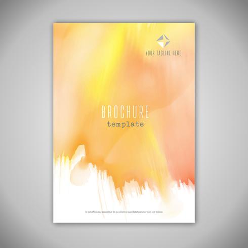 Business brochure design with watercolour texture