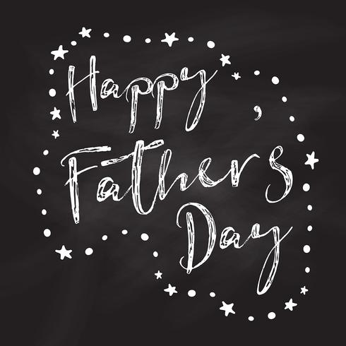 Chalkboard Father's Day background
