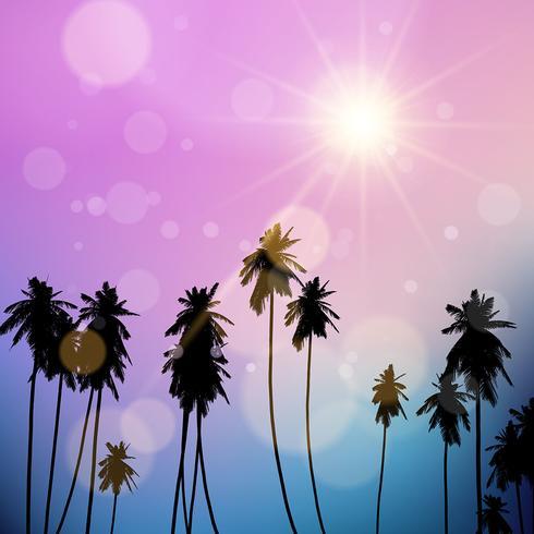 Palm trees landscape