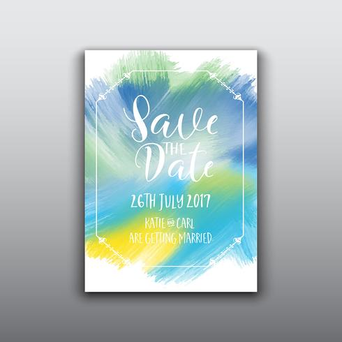 Decorative save the date background