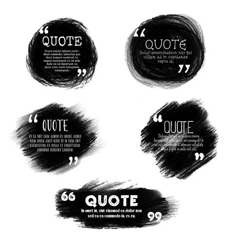 Grunge quote templates