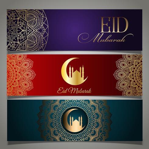 En-têtes d'Eid Mubarak