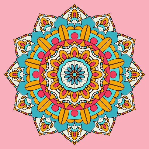Colourful mandala background design