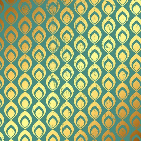 Grunge gold and teal pattern background