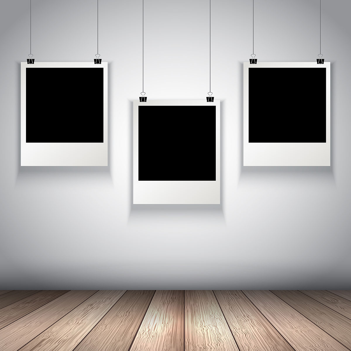 Collection Of Hanging Blank Photos Download Free Vectors