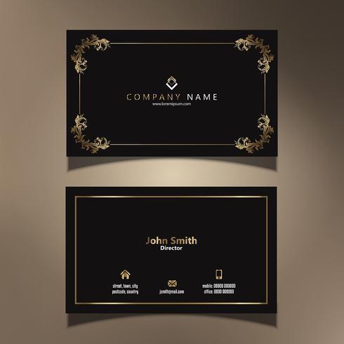Elegant visitkortdesign