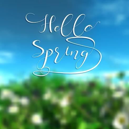 Hallo Frühlingshintergrund