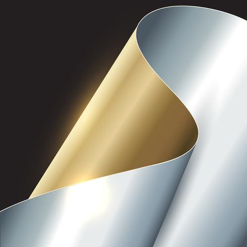 Abstract gold and silver background