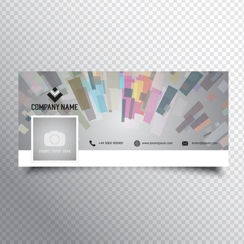 Design de capa de cronograma de mídia social