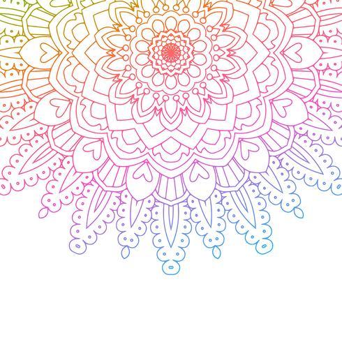 Regnbåge färgad mandala bakgrund