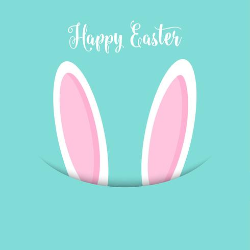 Easter bunny ears background