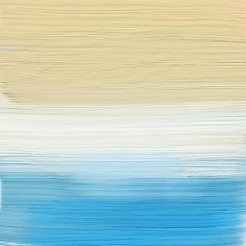 Painted abstract beach landscape