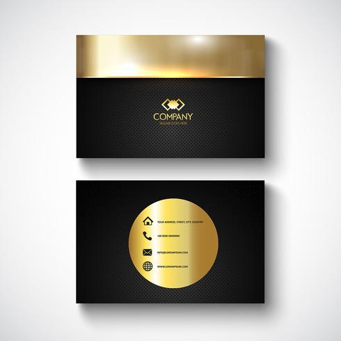 Metallic design business card