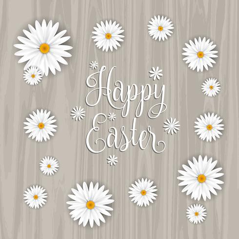 Happy Easter flower background