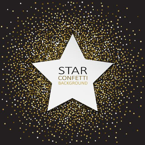 Star confetti background