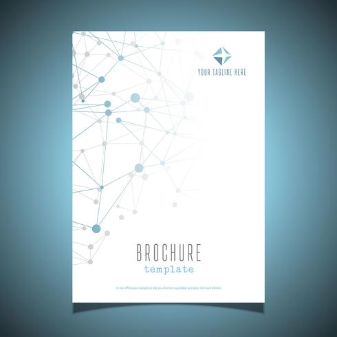 Business brochure design with connecting dots