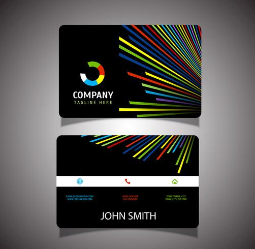 Coloured lines business card