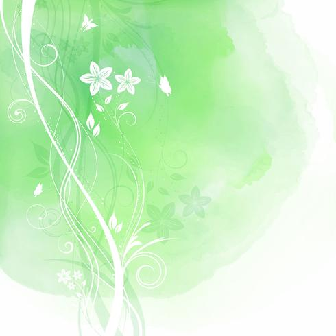 Floral design on watercolour background