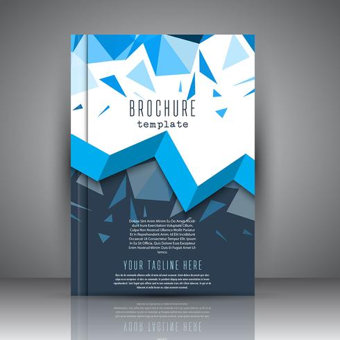 Brochure template with low poly design