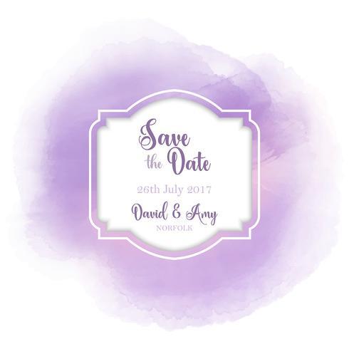 Save the date watercolour design