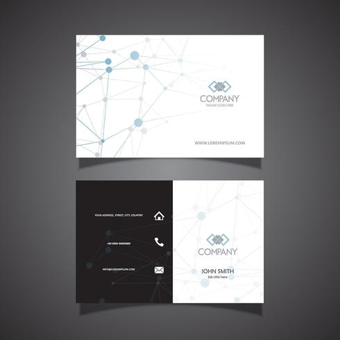 Business card with connecting dots design