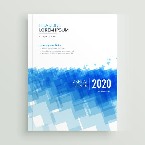 abstract annual report company brcohure design with abstract blu