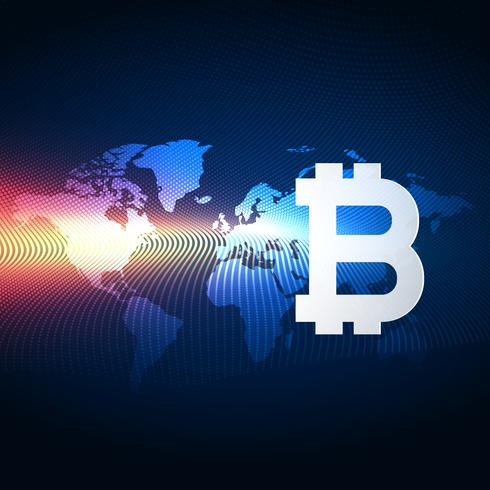 bitcoins digital currency technology background