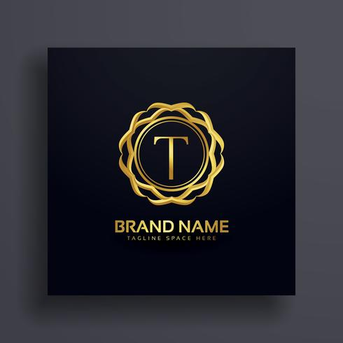 letter T luxury logo concept design