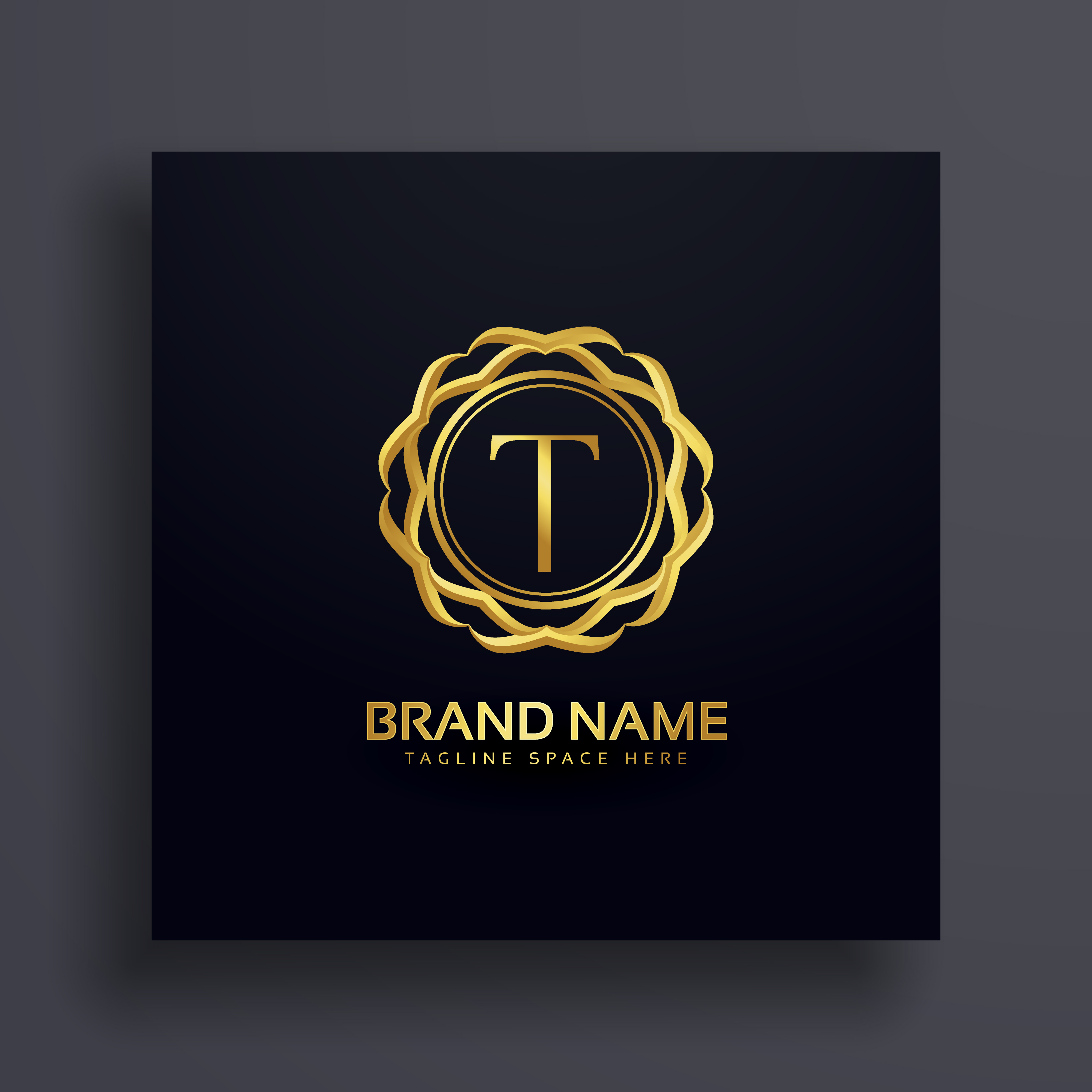Letter T Luxury Logo Concept Design
