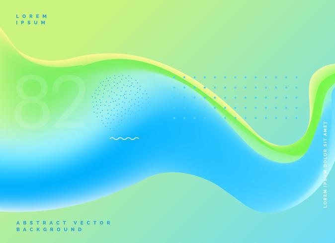 helle Flüssigkeit färbt modernen Hintergrund des blauen Grüns