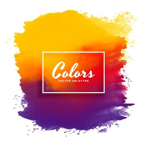 bright watercolor ink splatter vector background