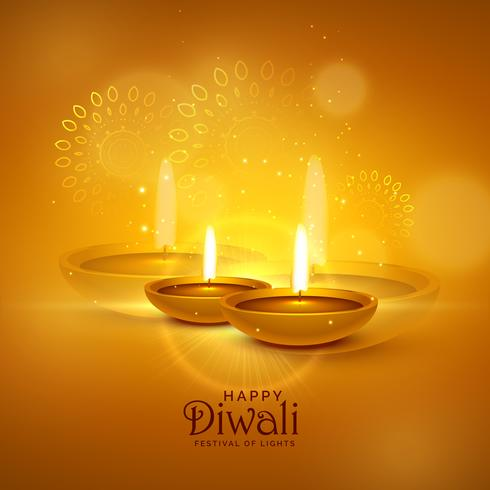 luxury diwali festival greeting background with decorative eleme