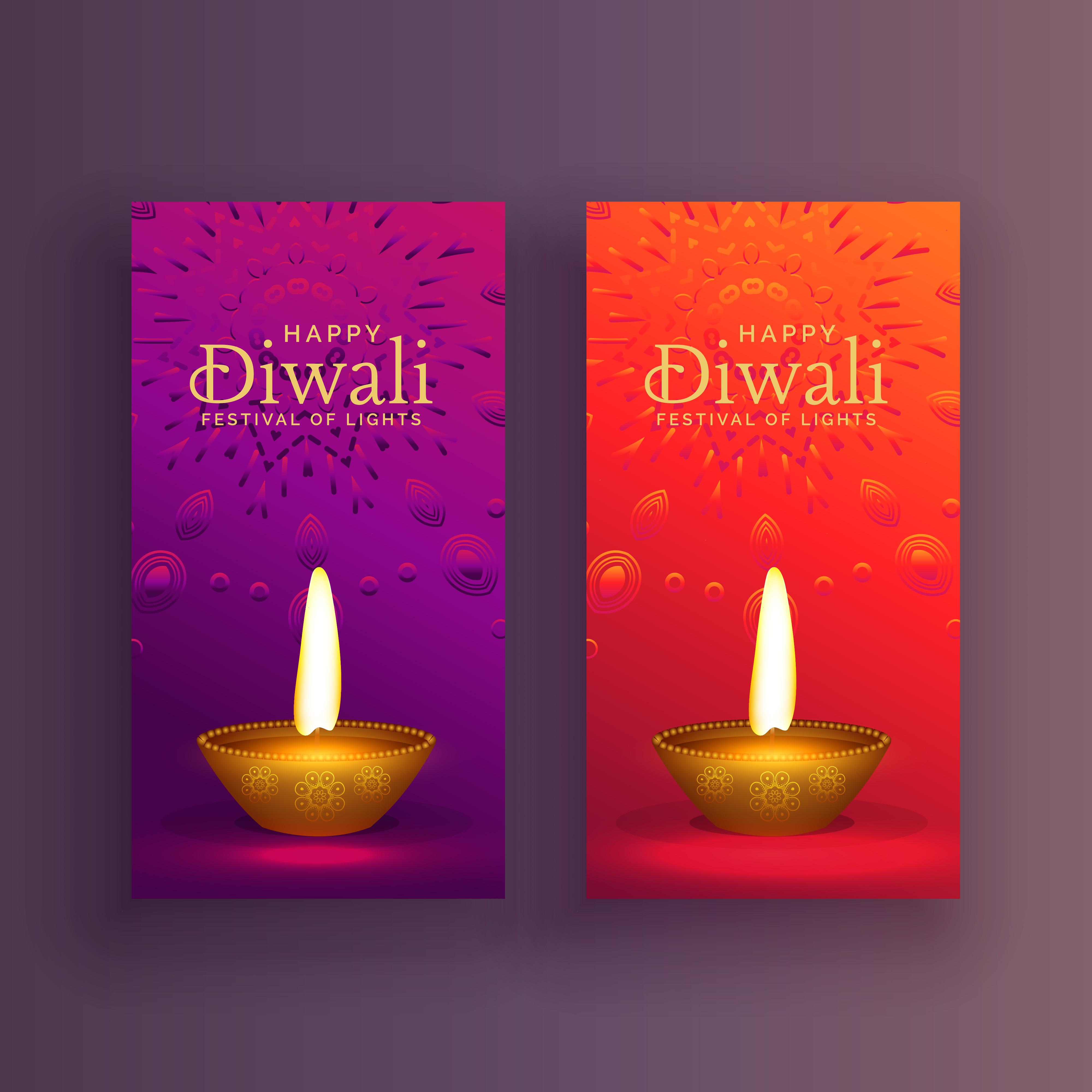 Happy Diwali Card Banner Design Background Download Free Vector