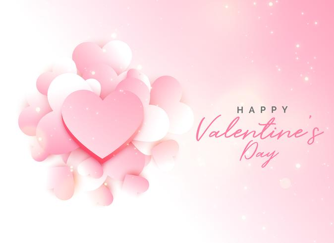 soft valentine's day pink background design