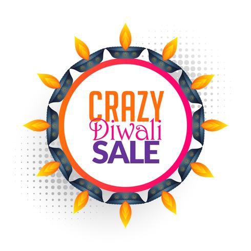 diwali sale vector background design