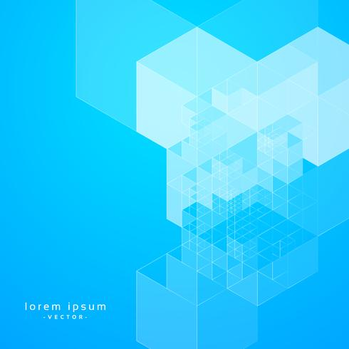 stylish blue abstract geometric background design