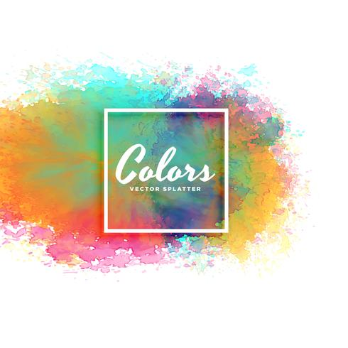 abstract watercolor stain background in many colors