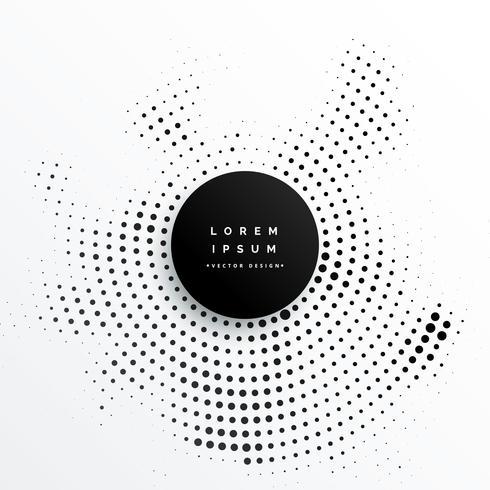 design de plano de fundo de pontos de meio-tom circular