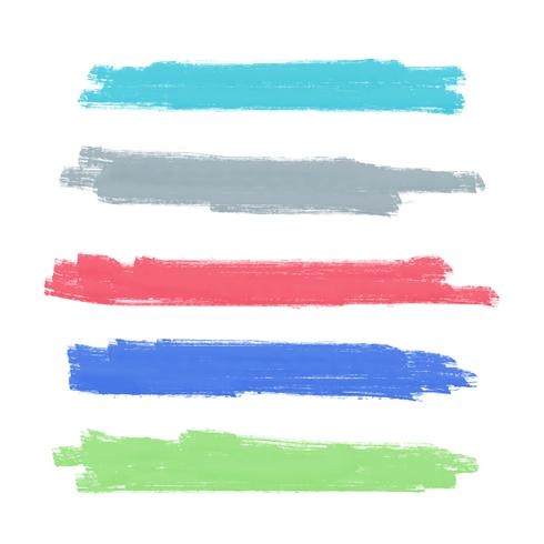 Aquarellpinselanschlagvektor-Hintergrunddesign