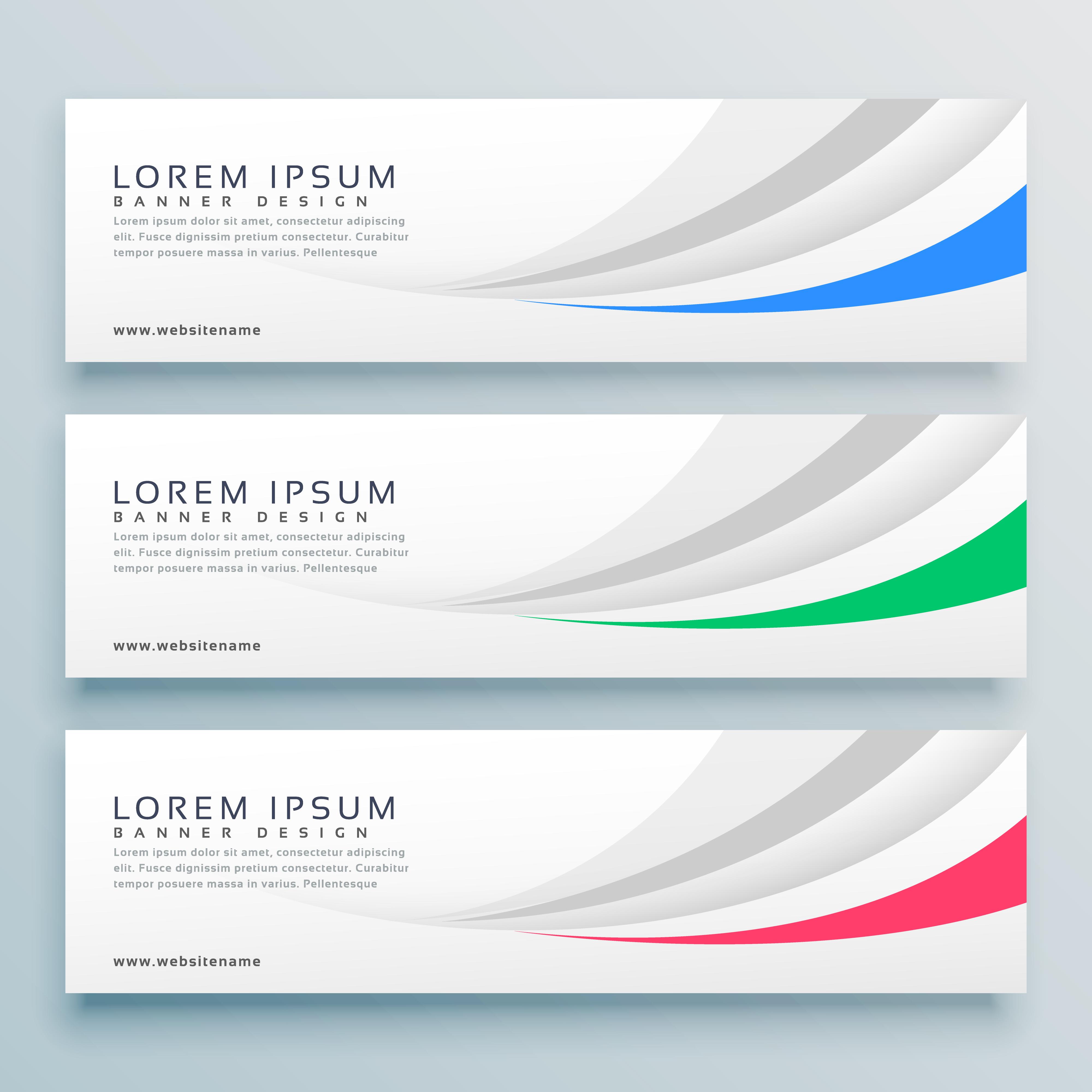 Vector Illustration Web Designs: Modern Clean Web Banner Or Header Design Background