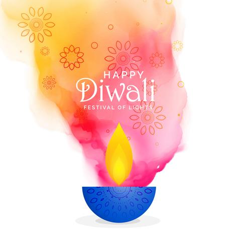 creative diwali festival background with colors splash