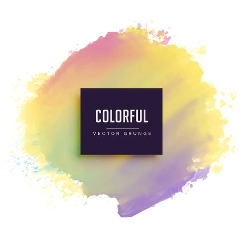 pastel color ink brush stroke vector background
