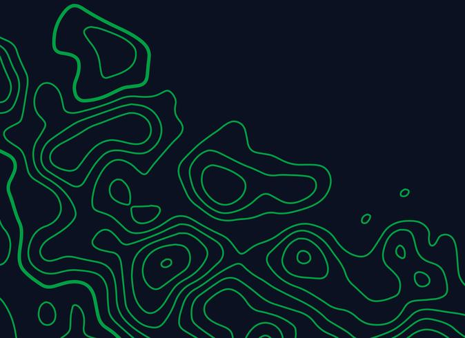 green topographic map lines vector background