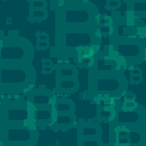 abstract bitcoins vector pattern background